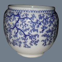 Early Mintons Blue Seaweed Jam Pot S2702