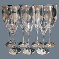 Seven Baccarat for Dom Perignon Champagne Flutes