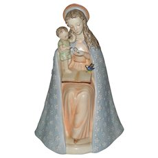 Lovely Flower Madonna Hummel with Child Open Halo Figurine