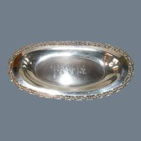 "Chic Vintage Simpson Hall Miller Silver Plate Bread ""Pain"" Tray"