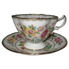 Hammersley England Mandalay Teacup and Saucer Quatrefoil