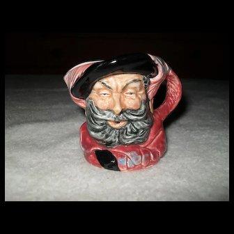"Vintage Royal Doulton Miniature Falstaff Toby Character Jug 2 1/2"""