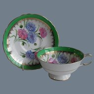 Vintage Paragon Warranted Pink and Blue Florals Teacup and Saucer