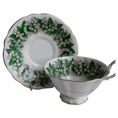 Queen Anne Lily of the Valley Teacup and Saucer