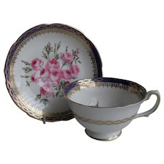 Royal Grafton Bouquet of Pink Roses Teacup and Saucer