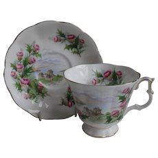 Royal Albert Road to the Isles Teacup and Saucer