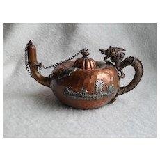 Rare Aesthetic Gorham Hammered Copper Cigar Lighter