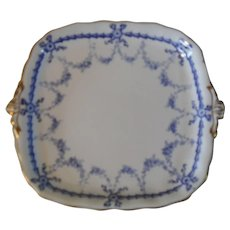 Royal Crown Derby Blue Bows #4680 Cake Plate