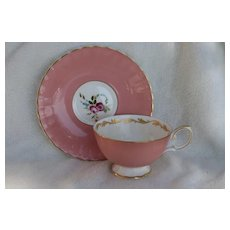Charming Pink Susie Cooper Pink Rose Teacup and Saucer