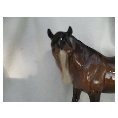 Beswick Brown Mare Horse Left Facing Figurine 976