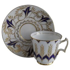 Royal Chelsea Navy Blue and Gold 4995A Teacup and Saucer