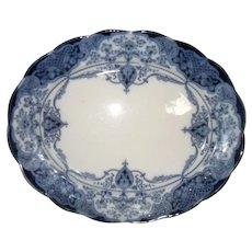 Vintage Flow Blue Hanley Weatherby Welbeck Tray