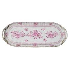 Herend Waldstein Rose Handled Sandwich Tray