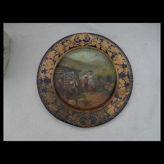 Old Barbee Whiskey Tin Vienna Art Plate