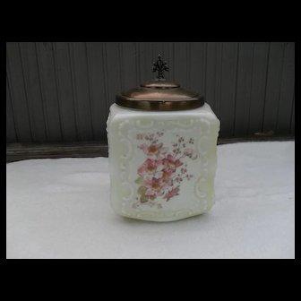 Mount Washington Wave Crest Glass Biscuit Jar