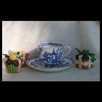 Royal Albert Blue Willow Asian Gardens Teacup and Saucer