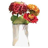 """Rosenthal Studio Line Paper Bag Vase 4"""""""