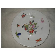 Herend Fruit and Flowers 1520 Dessert Salad Plate 8 1/8""