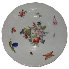 """Herend Fruit and Flowers 1520 Dessert Salad Plate 8 1/8"""""""