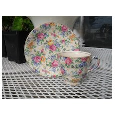 Vintage James Kent Rosalynde Chintz Teacup and Saucer