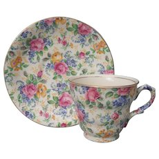 Vintage James Kent Rosalynde Chintz Teacup and Saucer