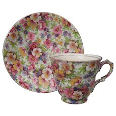 Vintage James Kent du Barry Chintz Teacup and Saucer