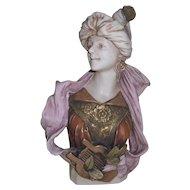 Rare Royal Dux 'Lady with Lyre' Art Nouveau Bust 451