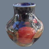 Miniature Vintage Moorcroft Pomegranate and Berry Cobalt Vase