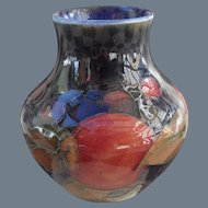 Miniature Vintage Moorcroft Pomegranate and Berry Cobalt Vase