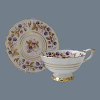 Lovely Royal Stafford Golden Bramble Berry Teacup Saucer