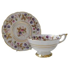 Lovely Royal Stafford Golden Bramble Berry Teacup Saucer