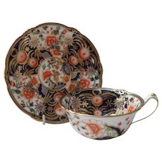 Antique Rare Royal Crown Derby Imari Teacup and Saucer 1912