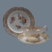 Vintage Hammersley England Dresden Sprays Teacup Saucer and Plate