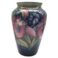 William Moorcroft Orchid Vase By Appt 1928-45