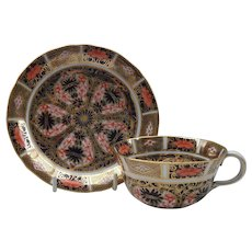 Antique Rare Royal Crown Derby 1130 Imari Gold Teacup and Saucer