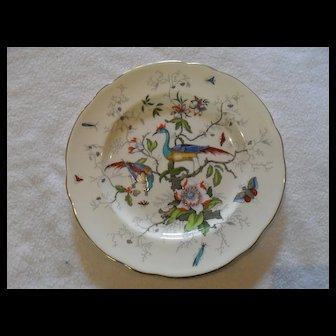 "Coalport Cairo Multicolored Cockatrice Bird 8"" Plate  8327"
