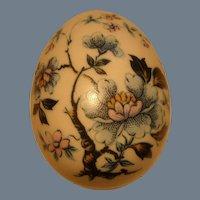 Sweet Limoges Porcelain Blue Flowers Branch Trinket Egg Box