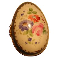 Goudeville Limoges Paris Floral Porcelain Trinket Box