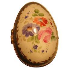 Goudeville Limoges Paris Floral Porcelain Trinket Box
