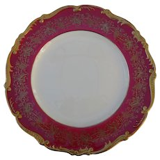 Coalport Hazelton Maroon Red Burgundy Gold Bread and Butter Plate