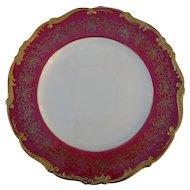 Coalport Hazelton Maroon Red Burgundy Gold Luncheon Plate