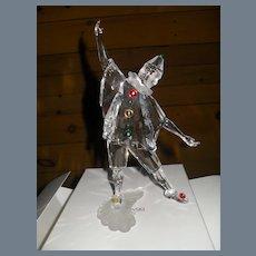 "Swarovski Crystal 1999 Masquerade Pierrot 8"" Figurine w/ COA and Original Boxes"