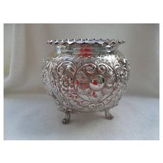 Antique Sheffield Silver Plate Boyton Footed Vase
