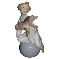 Lladro Capricorn The Goat  Zodiac Figurine #6222