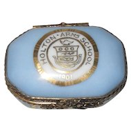 Limoges La Seynie Porcelain Pill Box Holton Arms School