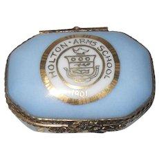 Limoges La Seynie Porcelain Pill Box Holton Arms School