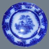 "Davenport Flow Blue Amoy Dinner Plate 10 5/8"""