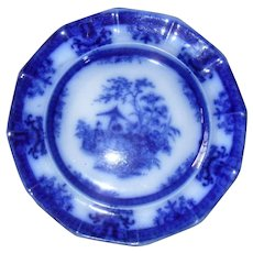 Davenport Flow Blue Amoy Dinner Plate 10 5/8""