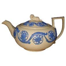 Antique Wedgwood Spaniel Dog Finial Teapot 1820
