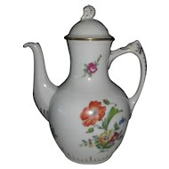 Bing & Grondahl B & G Denmark Saxon Flowers Coffeepot